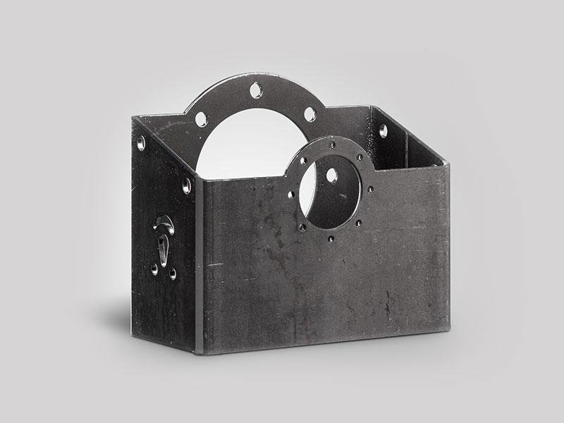 corte de acero rectangular por laser