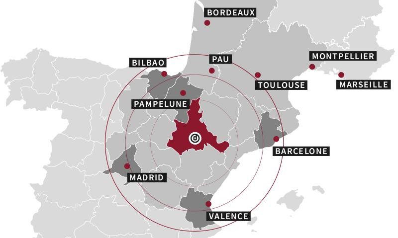 ubicación estratégica Dicome España